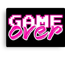 GAME OVER (Sexy) Canvas Print