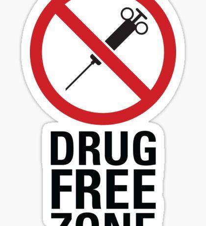 Drug Free Zone - Light Sticker