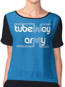 Tubeway Army 'blue' logo design Chiffon Top