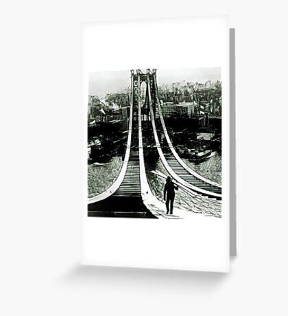 Manhattan Bridge - 1909 - Construction - Heisenberg Greeting Card