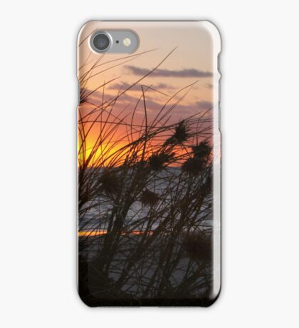 sunset grass II iPhone Case/Skin