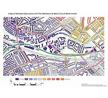 Multiple Deprivation Westbourne ward, Westminster Photographic Print