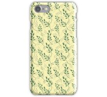 Pastel texture with leaves. In the European style. iPhone Case/Skin