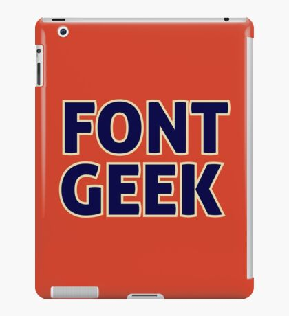 Font Geek iPad Case/Skin