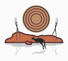 Aborigional Sunrise Kids Tee