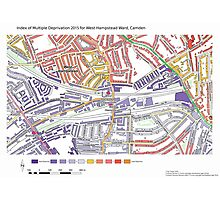 Multiple Deprivation West Hampstead ward, Camden Photographic Print