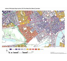 Multiple Deprivation West End ward, Camden Photographic Print