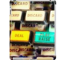 Discard, Deal, Play iPad Case/Skin