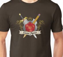 Game Master Red d20 Crest Unisex T-Shirt