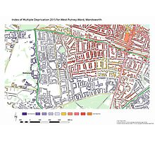 Multiple Deprivation West Putney ward, Wandsworth Photographic Print