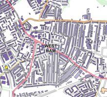 Multiple Deprivation West Ham ward, Newham Sticker