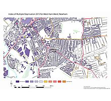 Multiple Deprivation West Ham ward, Newham Photographic Print
