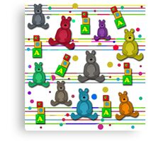 Toys pattern Canvas Print