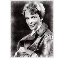 Amelia Earhart, Aviator Photographic Print