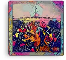 Abstract To Pimp A Butterfly Canvas Print