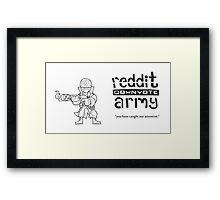 Reddit Downvote Army Flamer Framed Print
