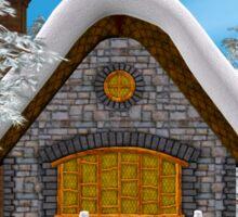 Winter Cottage Sticker