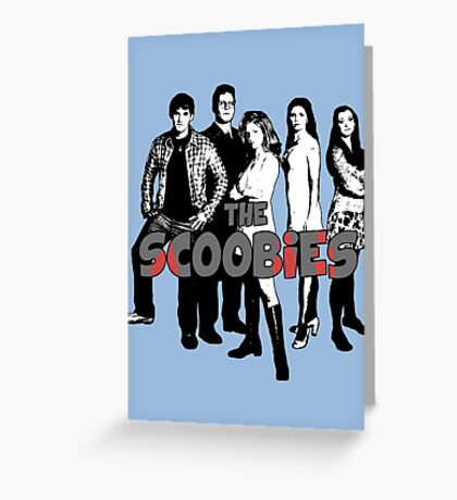 BTVS CAST (S1): The Scoobies! Greeting Card