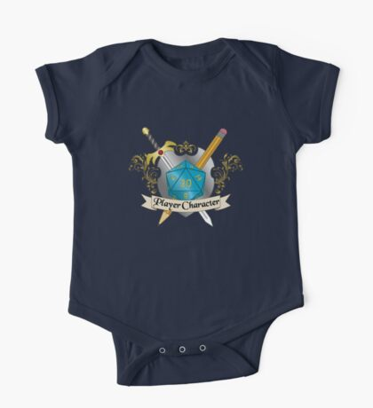 Player Character d20 Crest One Piece - Short Sleeve