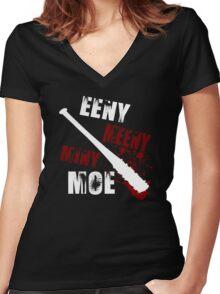 Eeny meeny miny moe Women's Fitted V-Neck T-Shirt