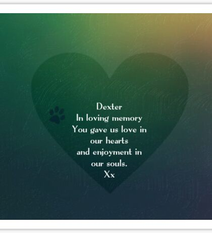 Dexter - In memory Sticker