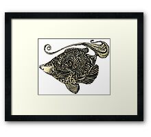 fish ornamental with texture Framed Print