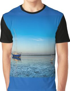 The Sailboat and Egret Graphic T-Shirt
