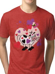 Cow Love with a Bumble Bee Tri-blend T-Shirt