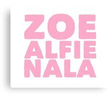 Zoe Alfie nala Canvas Print