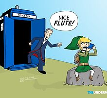 Doctor Who and Legend of Zelda Crossover by Brian Russell