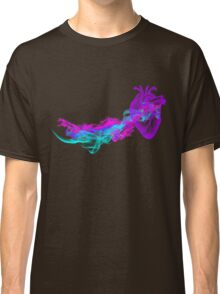 Heart and Abstract Colorful Smoke Classic T-Shirt