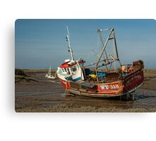 Whitby Crest at Brancaster Staithe Canvas Print