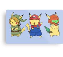 Nintendo Pikachus Metal Print