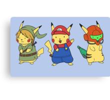 Nintendo Pikachus Canvas Print