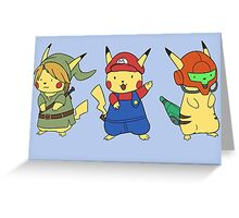 Nintendo Pikachus Greeting Card