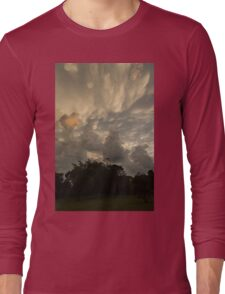 Sky Painting - Mammatus Clouds After A Storm Long Sleeve T-Shirt