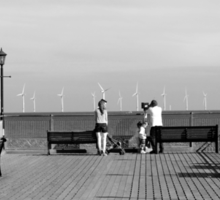 Pier End View, Skegness Sticker