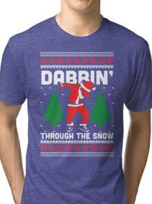 Dabbin Through The Snow Tri-blend T-Shirt