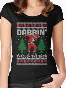 Dabbin Through The Snow Shirt Women's Fitted Scoop T-Shirt