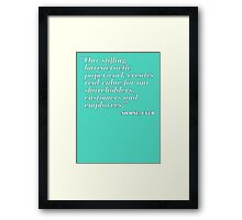 Bureacracy Framed Print