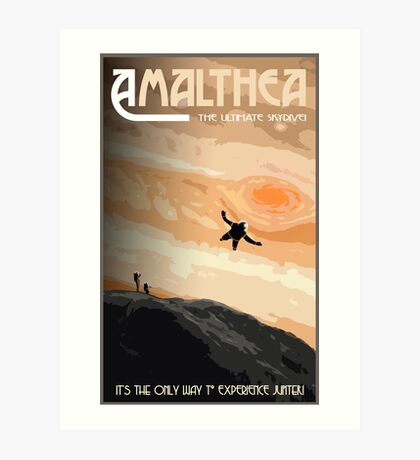 Space Travel Poster - Skydive Amalthea Art Print