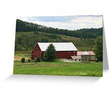 Red Barn Rural PA Greeting Card