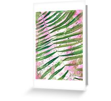 Pink Palm Leaves Greeting Card