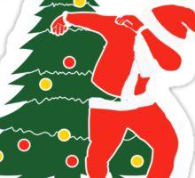 Dabbing Around The Christmas Tree Sticker
