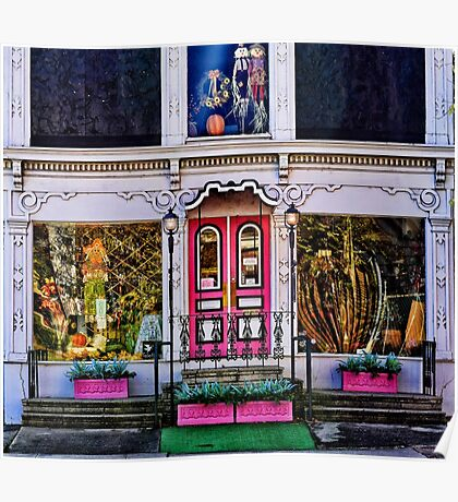 Flower Shop Facade Poster