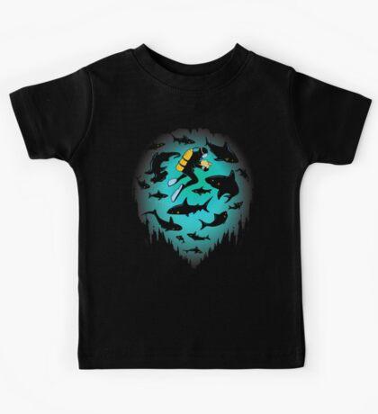 Screwed | Funny Shark and Diver Illustration Kids Clothes