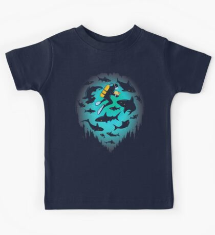 Screwed | Funny Shark and Diver Illustration Kids Clothes