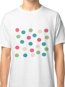Polka teal, green, blue, pink Classic T-Shirt