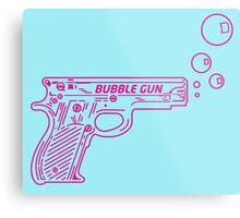 Colt .22 Automatic Bubble Gun Metal Print