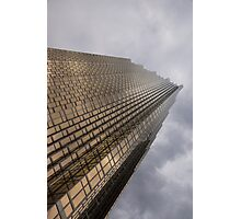 Gold and Gray - a Vertical View Photographic Print